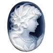 Black and White Agate Cameo