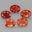 Group of 5 Andesine Gems