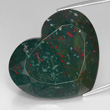 Heart-Shaped Spotted Bloodstone