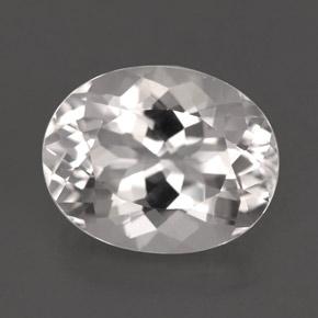 oval facet goshenite gemstone image