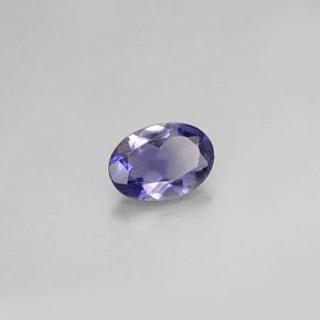 oval facet light purple oval iolite gemstone image