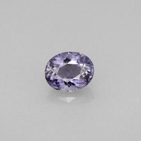 oval facet cut light purple iolite gemstone image