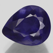 Deep Blue Iolite Pear
