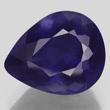 Deep Blue Iolite Pear