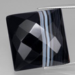 Finely Banded Black & White Onyx