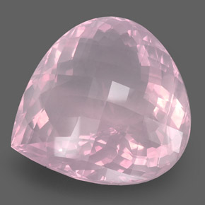 pear checkerboard large pink quartz gemstone image