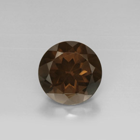 facet brown smoky quartz gemstone image