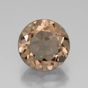 facet light brown smoky quartz gemstone image