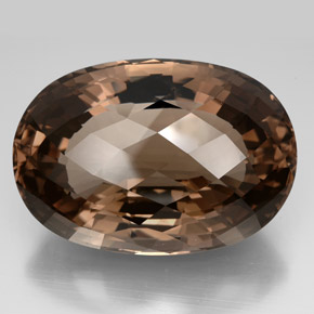 oval checkerboard large brown smoky quartz gemstone image