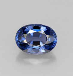oval facet blue spinel gemstone image