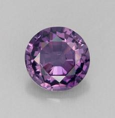 oval facet purple spinel gemstone image