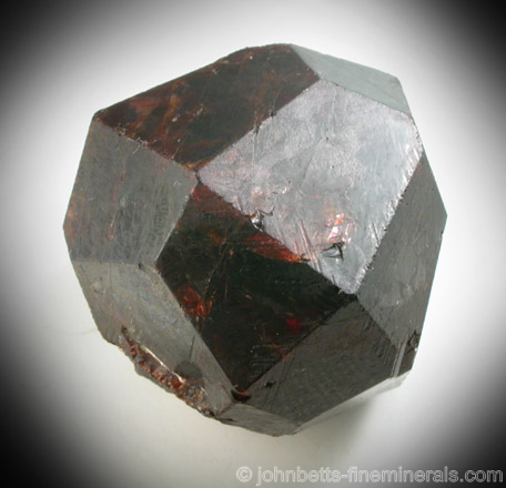 Almandine Garnet Crystal from Roebling Mine, Upper Merryall, Litchfield County, Connecticut