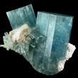 Deep Blue Aquamarine Crystals