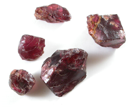 Almandine Garnet Crystal Fragments from Garnet Queen Mine, Emerald Creek District, Idaho