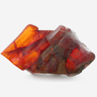 Orange-Red Amber with Insects
