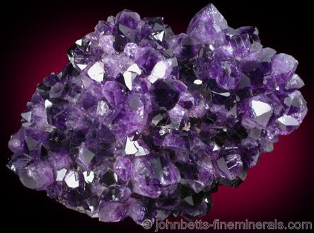 Deep Purple Amethyst Cluster from Catalan Agate-Amethyst District, Souther Paraná Basalt Basin, Artigas, Uruguay