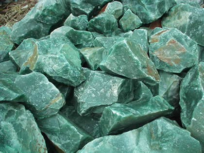 Aventurine Gemstone Rough from Unknown