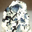 Benitoite with Neptunite and Natrolite