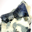 Triangular Benitoite Crystal Pair