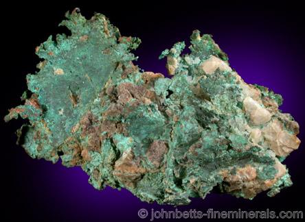 Copper Sheet from Copper Queen Mine, Bisbee, Warren District, Cochise County, Arizona