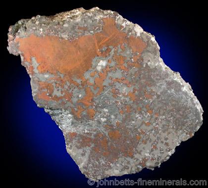 Polished Copper Slice from Osceola Mine, Calumet, Keweenaw Peninsula Copper District, Michigan