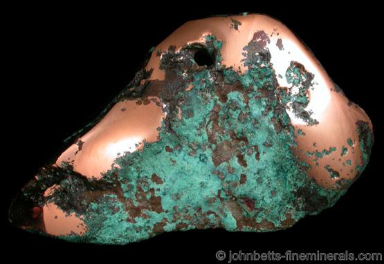 Copper Nugget from Keweenaw Peninsula Copper District, Michigan