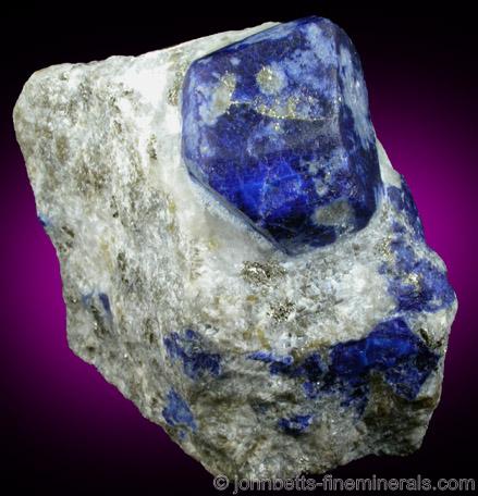 Lazurite Lapis Lazuli Crystal from Sar-e-sang, Kokscha Valley, Badakshan, Afghanistan