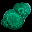 Round Concentric Green Malachite