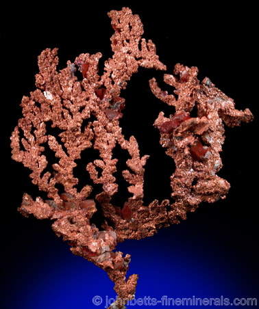 Crystallized Copper Dendrite from Ray Mine, Mineral Creek District, Pinal County, Arizona