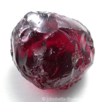 Waterworn Rough Rhodolite from Umba Valley, Tanzania