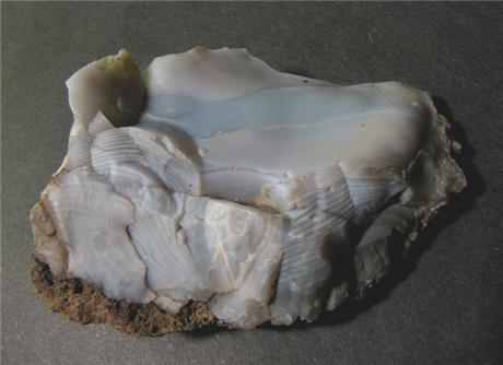 Unpolished Blue Agate from Wesley Hills, Rockland County, New York