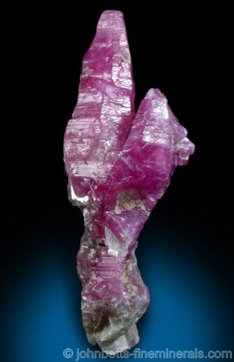 Elongated Ruby Crystals from An Phu, Luc Yen District, Yen Bai Province, Vietnam