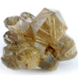 Lustrous Rutilated Quartz Cluster