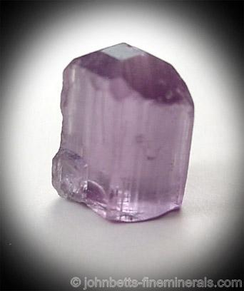 Single Purple Scapolite Crystal from Mpwapwa, Dodoma, Tanzania