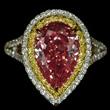 Fancy Intense Orange Diamond Ring