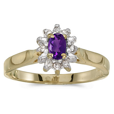Amethyst Ring in Yellow Gold