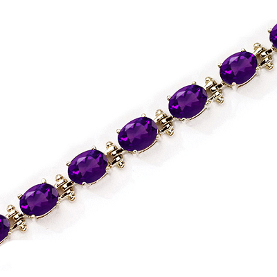 Amethyst And Gold Bracelet Gemstone Jewelry Image Eternity Jewelry