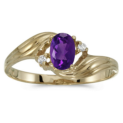 Amethyst in Gold Twist Ring