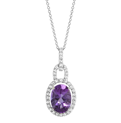 Amethyst white topaz silver pendant gemstone jewelry image amethyst white topaz silver pendant aloadofball Image collections