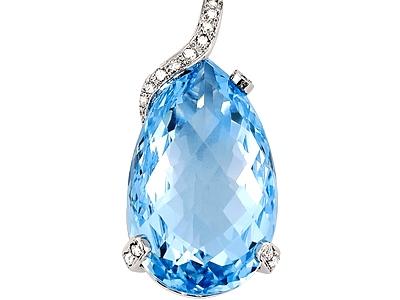 Blue topaz diamond pendant gemstone jewelry image blue topaz diamond pendant aloadofball Image collections
