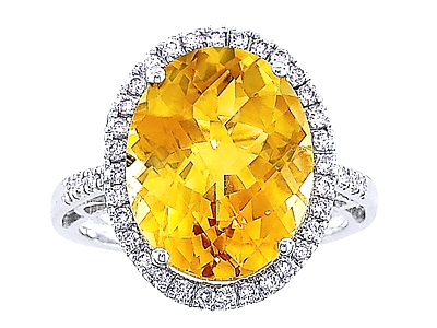 o products shape laser cut gold yellow heart ring diamond citrine garden