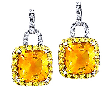 Citrine Yellow Shire Earrings
