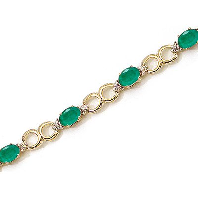 Emerald In Gold Bracelet