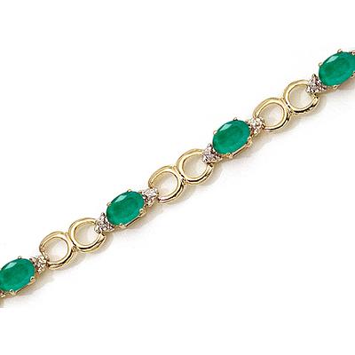 Emerald in Gold Bracelet