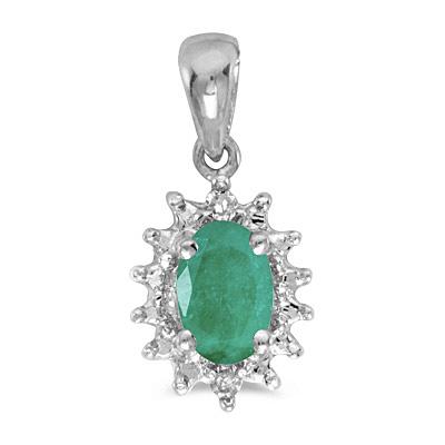 Emerald and diamond pendant gemstone jewelry image emerald and diamond pendant aloadofball Images
