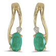 Emerald and Diamond Earring