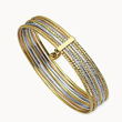 Tri color Gold Bangle Bracelet
