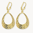Textured Yellow Gold Hoop Earrings