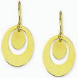 Yellow Gold Oval Fashion Earrings