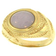 Lavendar Jade Gold Ring